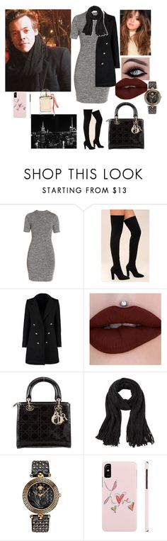 """""""Meeting fans with Harry in nyc"""" by tiffany-london-1 ❤ liked on Polyvore featuring French Connection, Bamboo, Boohoo, Christian Dior, Steve Madden, Versace and Chloé"""