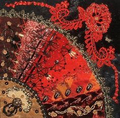 gorgeous crazy quilting -- love the rich colors!