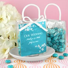Personalized wedding favors tote