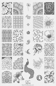UberChic Beauty Nail Stamp Plates: Collection 1