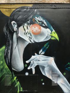 TWOONE, Melbourne Graffiti Girl, 3d Street Art, Character Base, Outdoor Art, Banksy, Artsy Fartsy, Art Pictures, Wall Murals, Cool Art