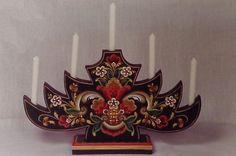 "Ruth Green Gorgeous Vintage Rosemaling Pattern ""Candle Tree"" | eBay"