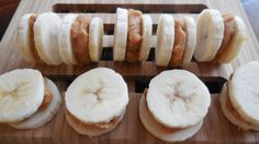 Frozen Peanut Butter Banana Sandwiches — She passed the sugar. Low Carb Snack Ice Cream alternative Low glycemic load