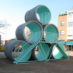 Concrete pipe play structure