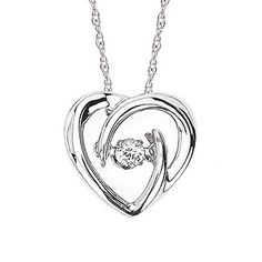 Shimmering Diamonds® Heart Pendant Insterling Silver With .05 Ct. Diamond by Ostbye. SD14P42