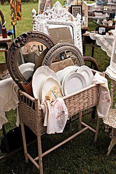 Flea Market, Garage & Yard Sales....KEEP YOUR EYES OPEN....additional Wedding Ideas.