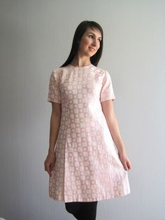 60s Mod Mini Dress Babydoll A Line Dress XS S by woolpleasure