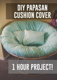 Papasan Chair Cushion Cover DIY kaylee eylander