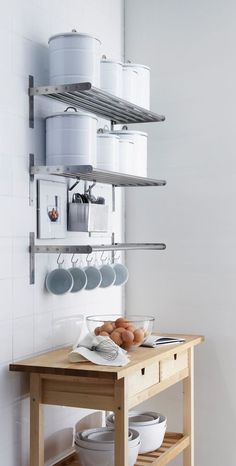 open shelving we re loving open shelving in the kitchen and are rh pinterest com wall mounted kitchen shelves uk wall mounted kitchen shelves ikea