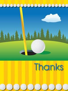 golf thank you card golf cards pinterest golf golf cards and