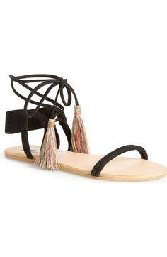 55ef61f9f Steve Madden  Lummi  Tasseled Ankle Wrap Sandal (Women) available at   Nordstrom