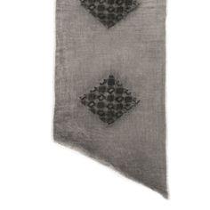 Sciarpa uomo / donna in lana con applicazioni patchwork