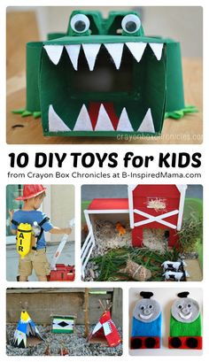 10 DIY Toys to Encourage Imagination - #kids #diy #kbn #binspiredmama