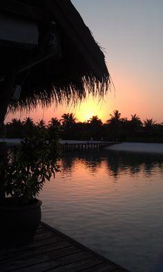 LUX* Maldives, sunset over lagoon