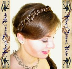 Princess HAIRBAND headband tiara WEDDING CROWN diadem C U S T O M  C O L O R Steampunk Renaissance Tribal Fusion Belly Dance Hair Piece on Etsy, $46.12