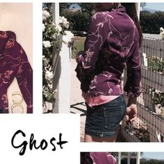 Ghost bolero jacket Ghost made in England feels awesome on 2 button front purchased at Crossroads resale shop in West Hollywood, Cali.  When I purchased it, it appeared to have been washed and dried so the appearance of this is worn. Ghost Jackets & Coats