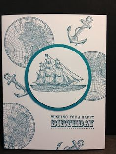 The Open Sea Masculine Birthday Card Rubber Stamping Stampin' Up!
