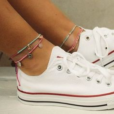 Ankle Bracelets, Shoe Closet, Ankle Straps, Anklets, Jewelery, Converse, Fashion Outfits, Sneakers, Accessories
