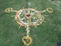 A summer solstice ritual mandala.