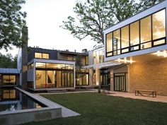 Fabulous luxury contemporary home with big windows and lots of greenery! #architecture #modern #design #house