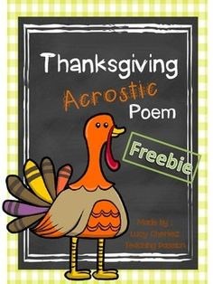 Thanksgiving Acrostic Activity by Of Sunflowers and Teaching Teaching Writing, Writing Prompts, Teaching Ideas, Thanksgiving Writing, Thanksgiving Activities, Kindergarten Activities, Classroom Activities, Brainstorm, 5th Grades