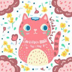 "0 Likes, 2 Comments - Winda Lee (@windalee.me) on Instagram: ""Late night doodling 🐱 #cat #pink #customillustrations #windalee #madebyorder #dress #wedding…"""