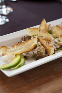 Eric Jagger's Ceviche with fried mandioca