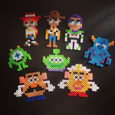 Toy Story and Monsters, Inc. characters perler beads by  mame7181