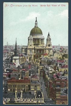 Postcards - Greetings & Congrads # 1209 - Christmas Greeting from London, England