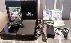 Microsoft Xbox One Day One Edition 500GB Schwarz GTA 5,FIFA 16+17,JustCause3 OVP