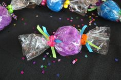 Handmade Unique Girls Spa Party Favor Bath Puff Candy with Hair-ties Spa Day Party, Spa Party Favors, Girl Spa Party, Spa Birthday Parties, Pamper Party, Sleepover Party, Birthday Gifts For Girls, Slumber Parties, Baby Shower Favors