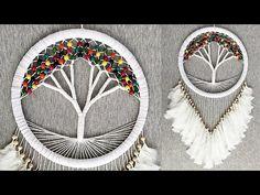 "DIY Atrapasueños ""ARBOL DE LA VIDA"" | DIY Dreamcatcher ""TREE OF LIFE"" - YouTube Bead Embroidery Patterns, Crochet Flower Patterns, Macrame Patterns, Yarn Crafts, Diy And Crafts, Diy Dream Catcher Tutorial, Crochet Dreamcatcher, Dream Catcher Craft, Macrame Tutorial"
