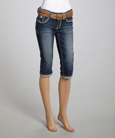 Loving this Brandy Belted Capri Jeans on #zulily! #zulilyfinds