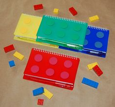 Building Block Party Favor Notebooks set of 4 by CraftsForKids, $10.00
