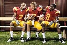 Robert Woods,Matt Barkley,Marqise Lee USC Trojans
