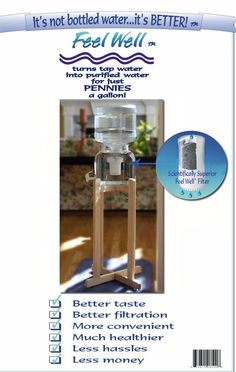 Feel Well Water Filtration System : Gravity Fed Filters