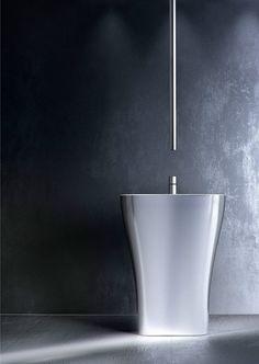 Chrome-plated ceiling mounted single handle washbasin mixer NOMOS GO by FIMA Carlo Frattini