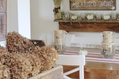 The Long Awaited Home: Fall Home Tour 2015.  Neutral fall decorating.