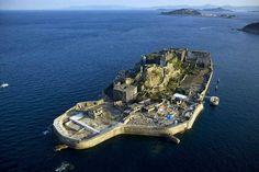 Hashima Island, Japan; by aerial photographer, Yann Arthus-Bertrand.