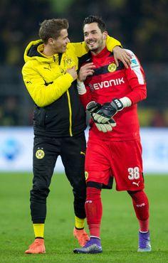 Roman Bürki and Erik Durm