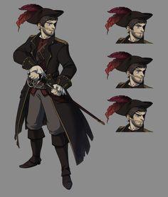 Character Portraits, Character Art, Character Design, Pirate Boy, Dnd Art, Costumes, Costume Ideas, Pirates, Concept Art