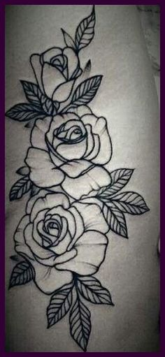 Ideas Embroidery Rose Tattoo For 2019 Stencils Tatuagem, Tattoo Stencils, Rose Embroidery, Embroidery Patterns, Blackwork Embroidery, Trendy Tattoos, Tattoos For Women, Teen Girl Crafts, Tween Craft