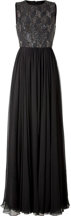 Jenny Packham Silk Gown in Licorice $4,390.00 thestylecure.com