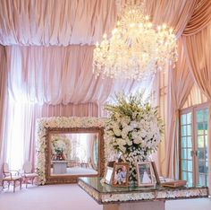 Get inspired by this stunning display of draping and floral arrangements~Revelry Event Designers