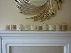 Vintage mason jars, lace trims and garden twine from Annaboo's House blog
