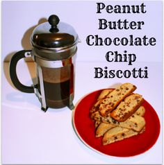 Peanut Butter Chocolate Chip Biscotti- Pardon My French