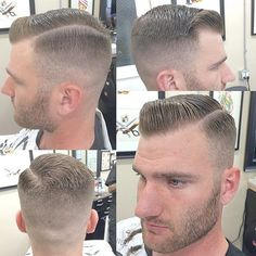 unnamed model with slick haircut and stubble Barber Haircuts, Cool Haircuts, Haircuts For Men, Men's Haircuts, Men's Hairstyles, Mens Hairstyle Images, Popular Mens Hairstyles, Hair And Beard Styles, Curly Hair Styles