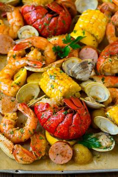 Recipe Shrimp BoilSeafood Boil Recipe Shrimp Boil A giant Shrimp Boil is what your family will LOVE for a summer party Sponsored by Target Taco Casserole is a cheesy me. Cajun Seafood Boil, Seafood Boil Party, Seafood Boil Recipes, Lobster Recipes, Fresh Seafood, Seafood Dishes, Shrimp Recipes, Shrimp And Lobster Boil Recipe, Lobster Dishes