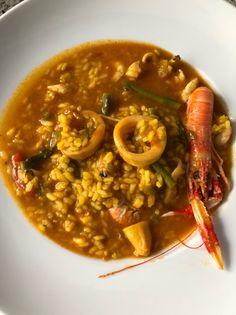 Arroz caldoso de marisco Rice Recipes, Chicken Recipes, Cooking Recipes, Healthy Recipes, Recipies, Rice Dishes, Food Dishes, Risotto, Le Chef