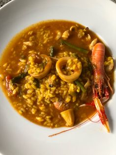 Arroz caldoso de marisco Rice Recipes, Chicken Recipes, Cooking Recipes, Healthy Recipes, Recipies, Seafood Pasta, Fish And Seafood, Risotto, Yummy Food